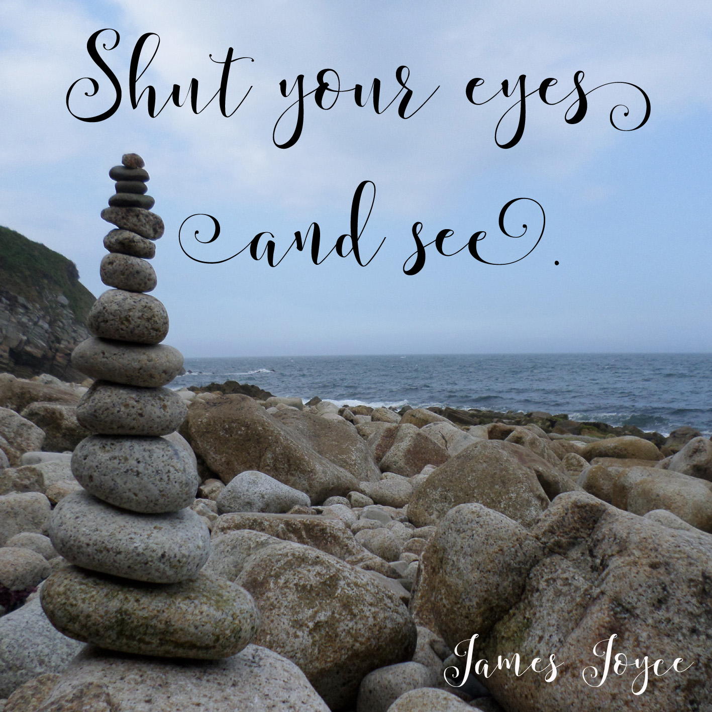 shut your eyes and see james joyce quote