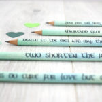 two shorten the road irish pencils stationery gifts
