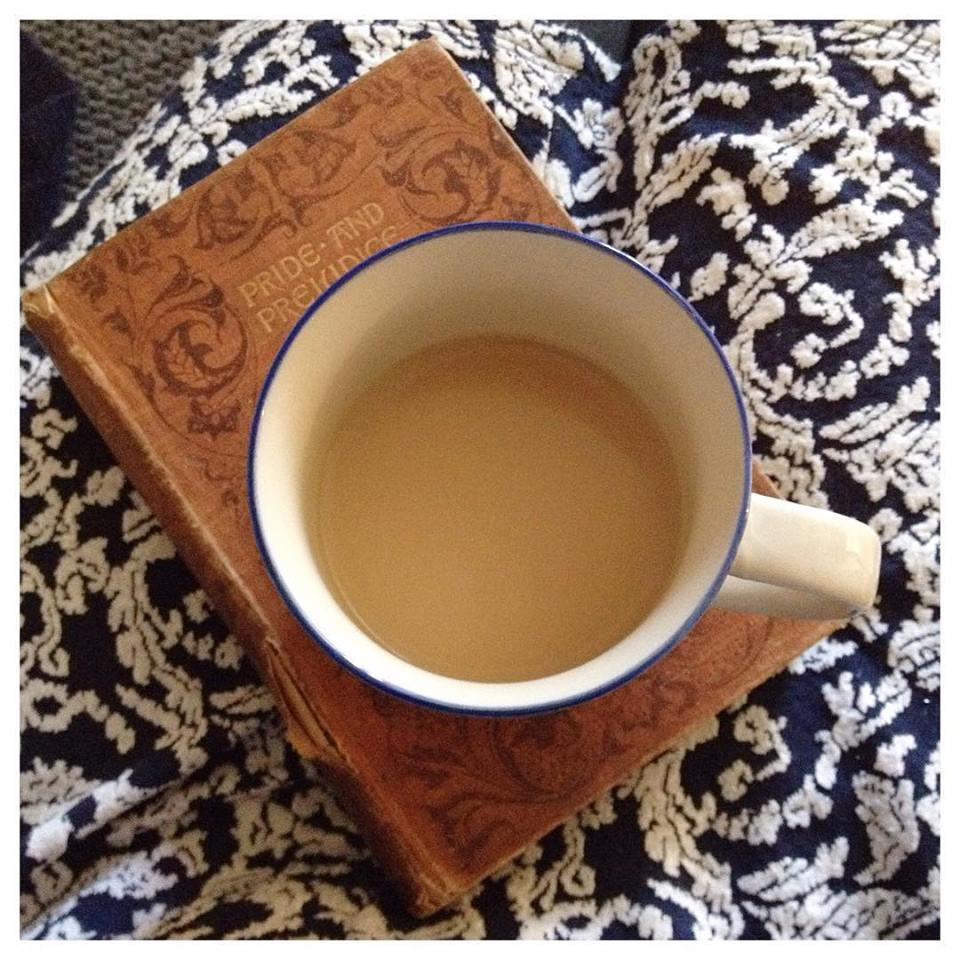 I can't live without my books and tea