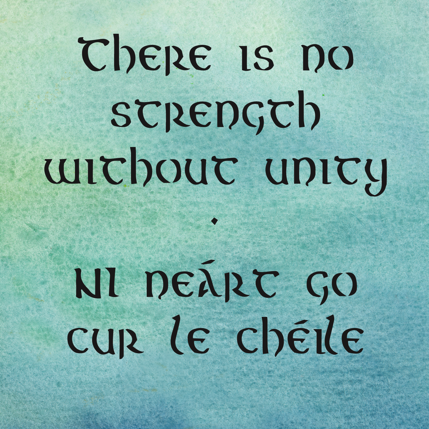 there is no strength without unity Irish quotes on friendship and community