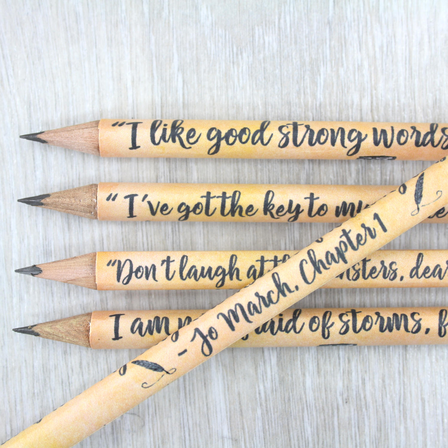 Personalised Little Women Gift Quote Pencils Gifts For Your Best