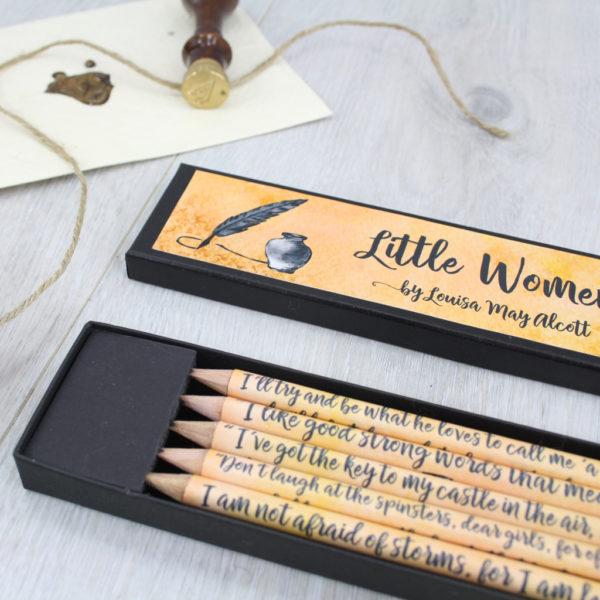 book lover gifts little women pencils