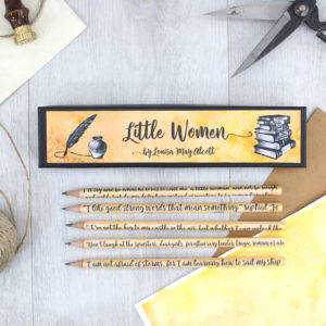 little women by louisa may alcott pencils handmade and designed in Ireland by six0sixdesign low res 1500