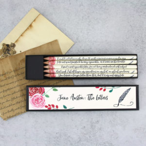 Jane Austen's letters quote gift pencils handmade in Ireland