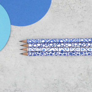 dots and dashes blue pencils from six0six design