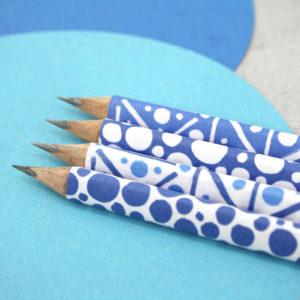 hand covered original design pattern pencils six0six design