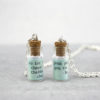 mini bottle pendants multilingual as gaeilge gifts
