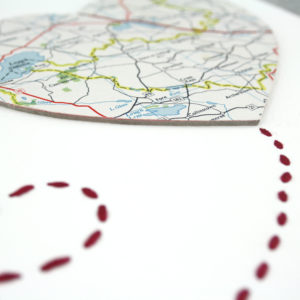 two big hearts map artwork location gifts six0six design