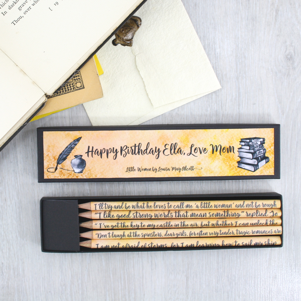 personalised little women gifts for book lovers handmade in Ireland