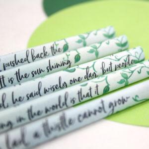 hand coverered book pencils the secret garden six0sixdesign