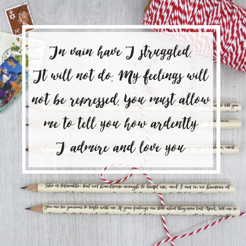 in vain have I struggled it will not do you must allow me to tell you how much I love and admire you mr darcy quote from pride and prejudice