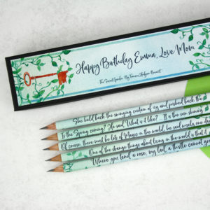 personalised secret garden gifts with quotes from frances hodgson burnett