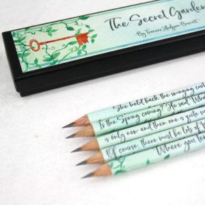 the secret garden pencil set quotes from the novel gifts for book lovers six0six design