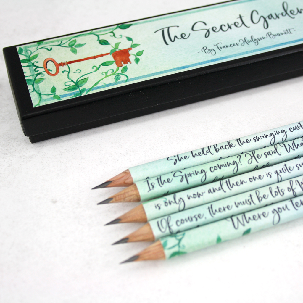The Secret Garden Quote Pencils Literary Stationery Handmade In