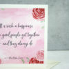 It is such a happiness when good people get together - and they always do Jane Austen quote card six0six design