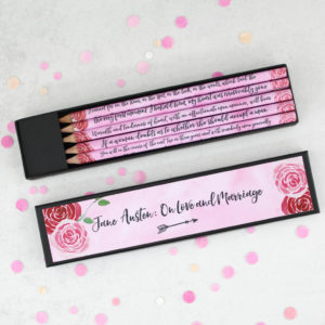 Jane Austen romantic quotes on falling in love valentines day gifts