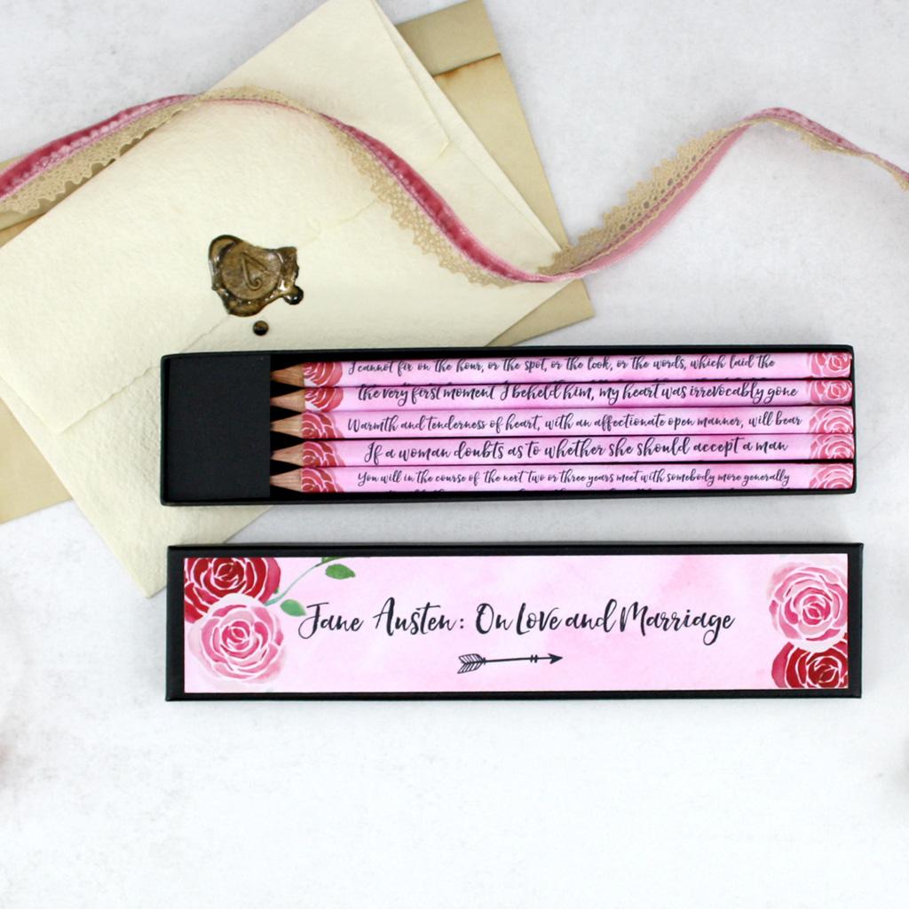 Jane Austen stationery for Valentines or Galentines Day