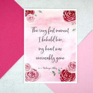 The very first moment I met him love quote from Jane Austen A5 print six0six design