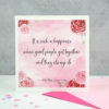 it is such a happiness when good people get together - Jane Austen engagement card noths