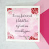 the very first moment I beheld him - pink floral literary card from six0six design