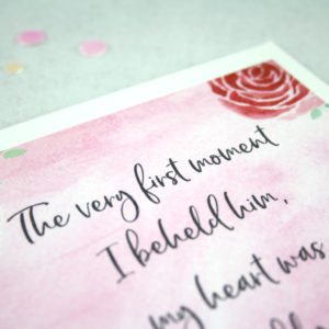 the very first moment Jane Austen quote card from Love and Friendship