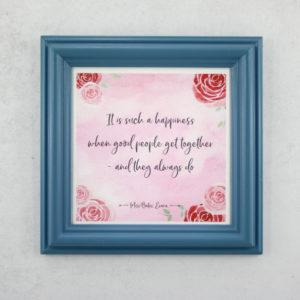 Limited edition framed Jane Austen prints romantic literary gifts 1