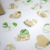 Rome map confetti hearts in little packs of 50 for wedding favours six0six design