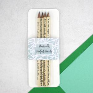 literary pencils on sale slight seconds but still perfect six0sixdesign