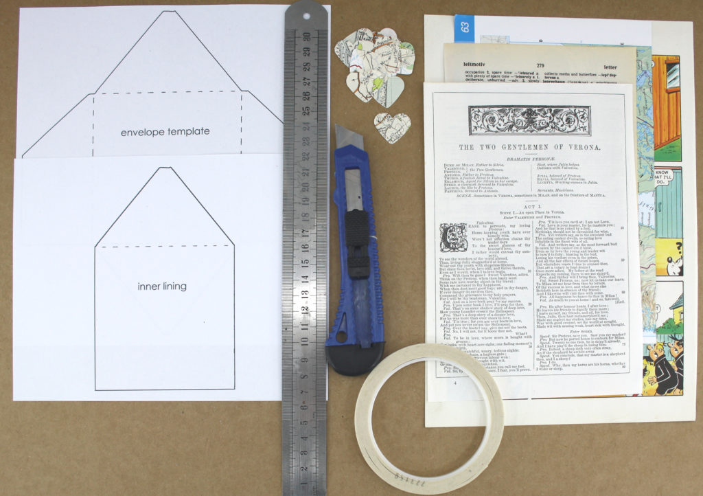 materials you will need to make your own envelopes decoupage