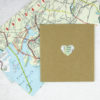 new york city and brooklyn map heart confetti perfect for party decorations six0six design
