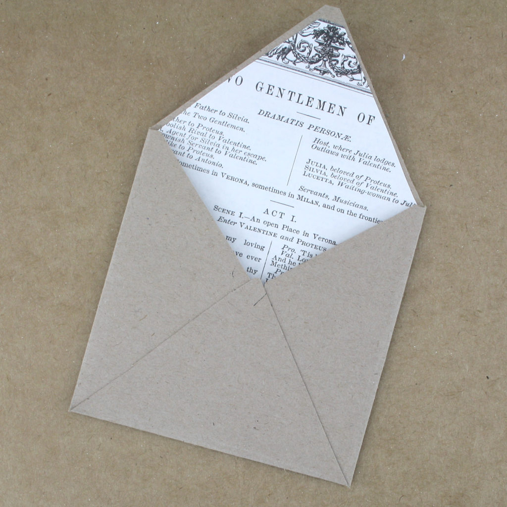 now you are finished making your envelope time for the finishing touches