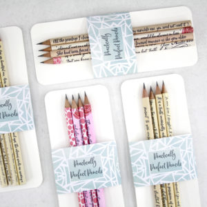 practically perfect pencils from six0sixdesign sets of 4 pencils