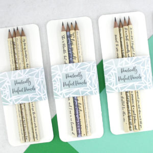 sale section of pencils in shop