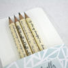 set of 4 pencils handmade in Ireland on sale now