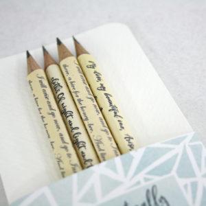 set of 4 pencils handmade in Ireland on sale now