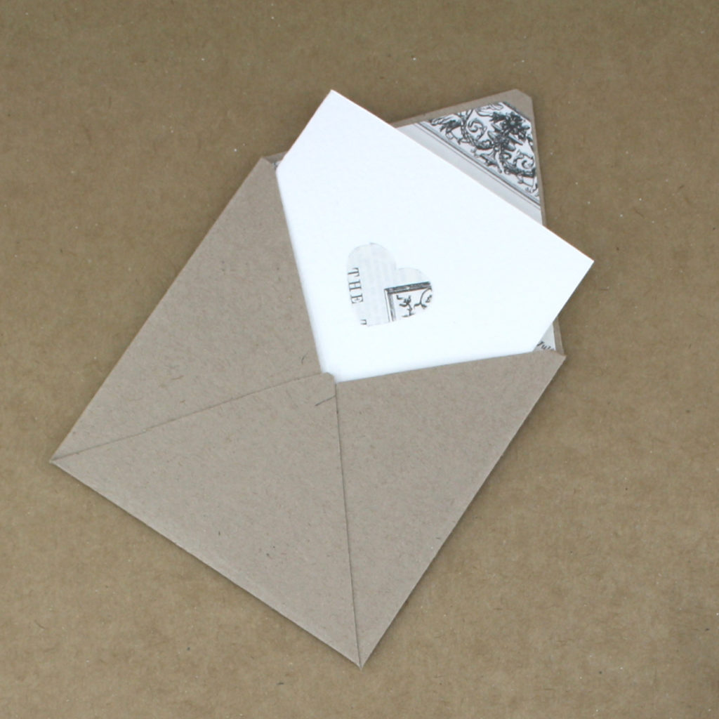 shakespeare themed stationery with a make it yourself envelope and matching card