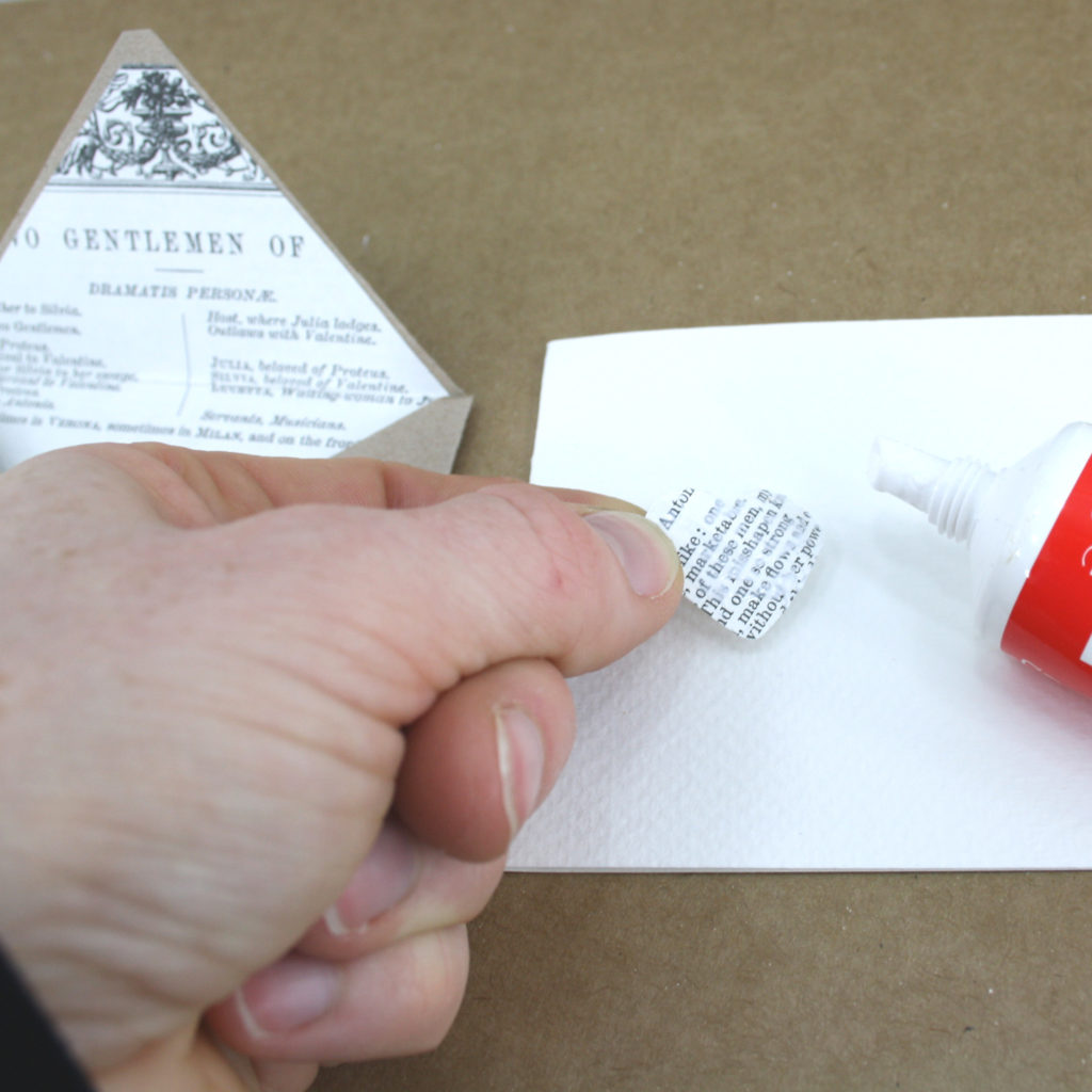 Adding some final details to your diy Shakespeare envelope