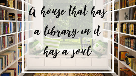 "A house that has a library in it has a soul."" - Plato reading quote"