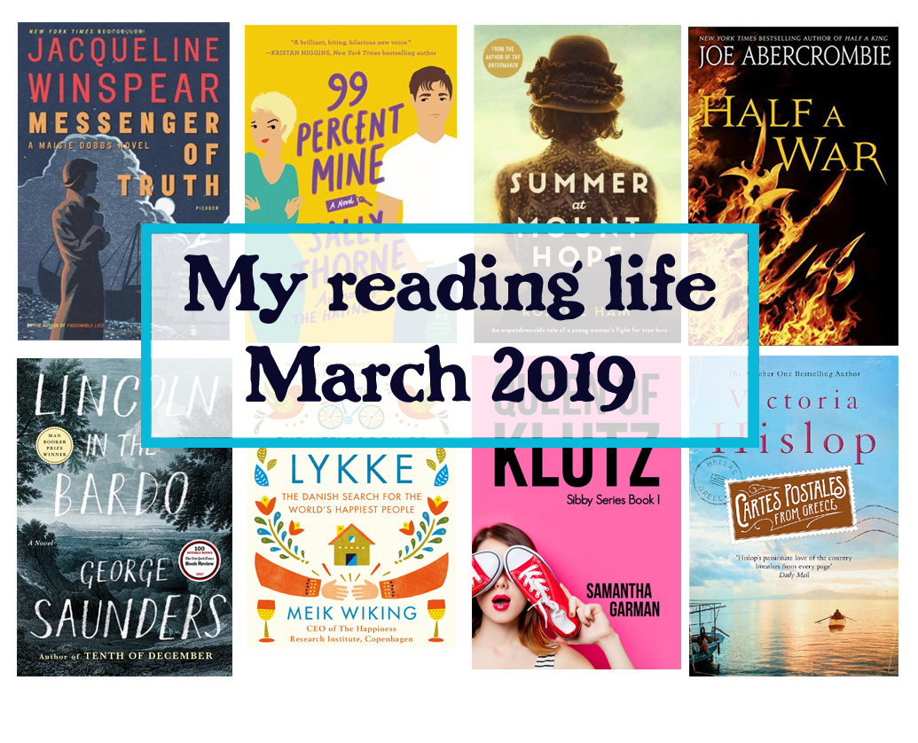 my reading life march 2019 diaries of a book addict