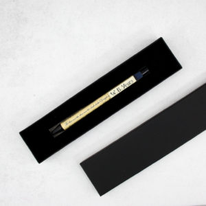 each film pen comes in its own presentation box like this one