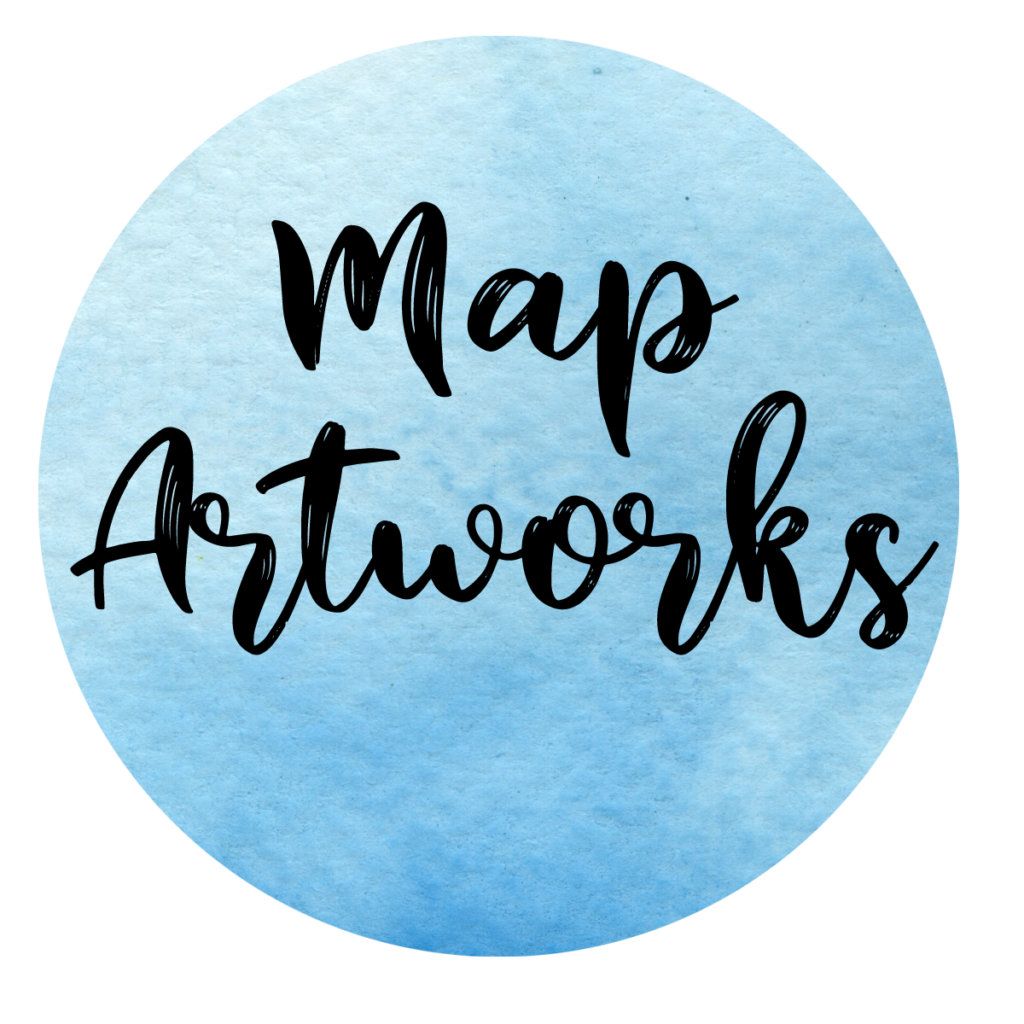 Map artworks, personalised wedding and anniversary gifts