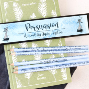 Persuasion quote gifts handmade in Ireland set of pencils