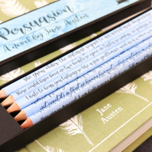 Persuasion quote pencils gifts for book lovers handmade in Ireland