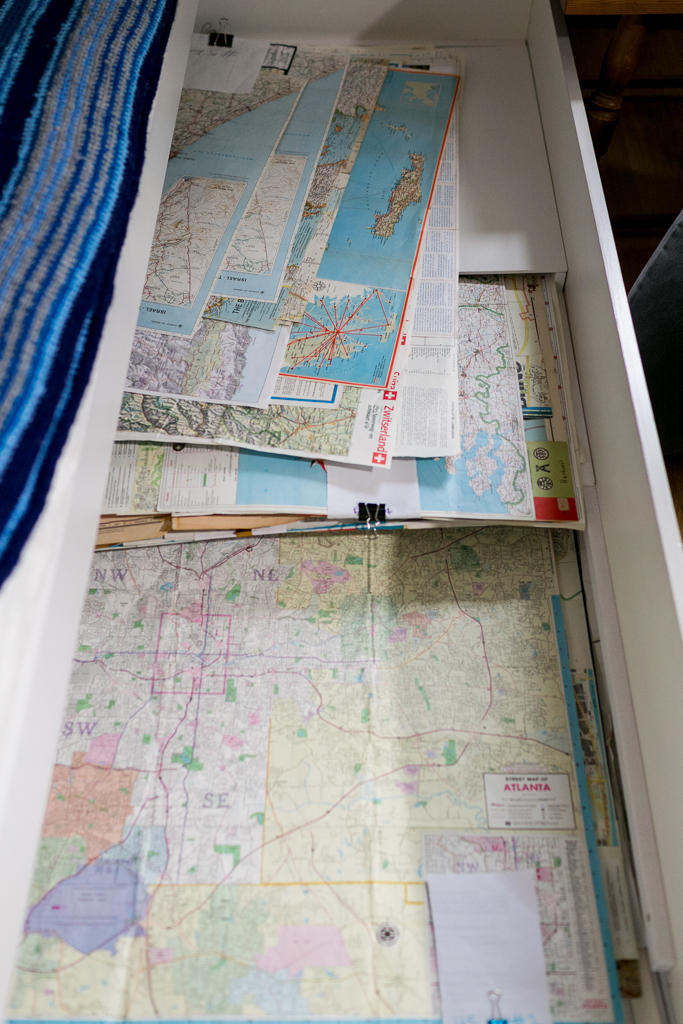 vintage maps from National geographic and travel maps