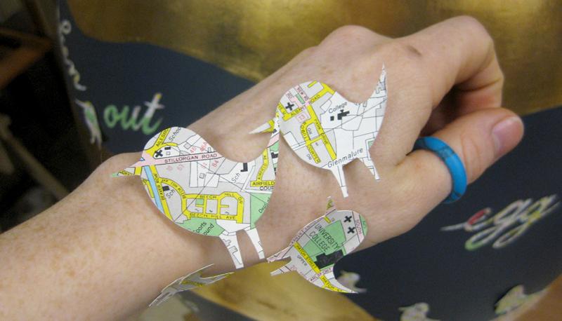 birds cut from maps
