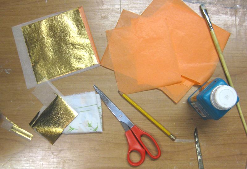 gold leaf materials for blog