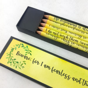 feminist quote gifts in chartreuse green colour tone