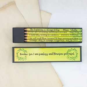 feminist quote pencil set to inspire you by six0six design 1