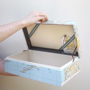 bantry bay Ireland keepsake box with vintage ordnance survey map ireland