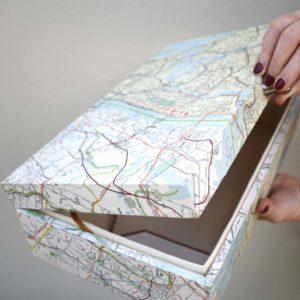 brooklyn and manhatten vintage map keepsake box